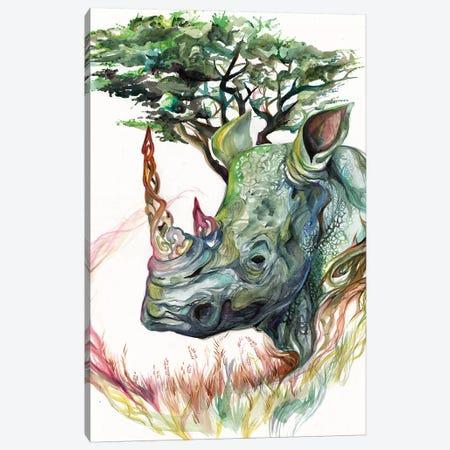 Rhino Canvas Print #KLI118} by Katy Lipscomb Art Print