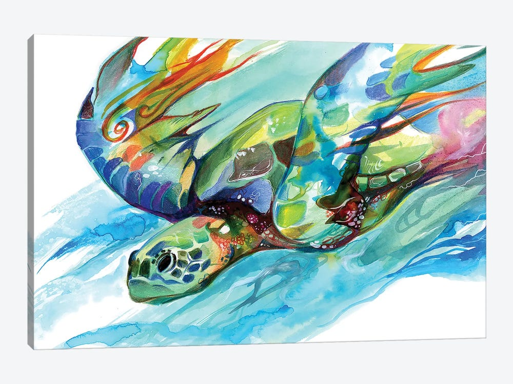 Sea Turtle by Katy Lipscomb 1-piece Canvas Wall Art