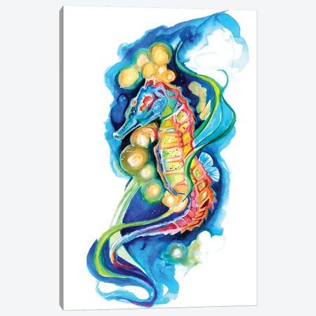 Seahorse Canvas Print #KLI123} by Katy Lipscomb Canvas Artwork