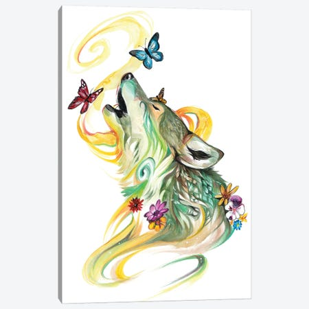 Season Wolf - Spring Canvas Print #KLI125} by Katy Lipscomb Art Print