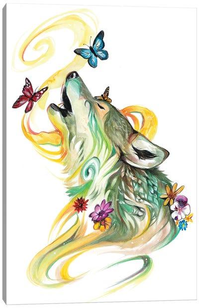 Season Wolf - Spring Canvas Art Print