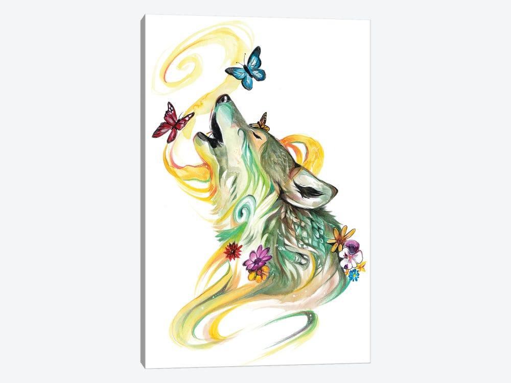 Season Wolf - Spring by Katy Lipscomb 1-piece Canvas Art Print