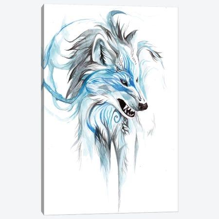 Season Wolf - Winter Canvas Print #KLI127} by Katy Lipscomb Canvas Print