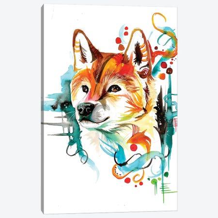 Shiba Canvas Print #KLI129} by Katy Lipscomb Canvas Wall Art