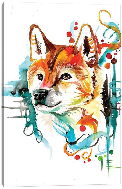 Shiba Canvas Art Print
