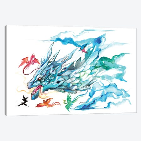 Sky Dragon Canvas Print #KLI130} by Katy Lipscomb Art Print