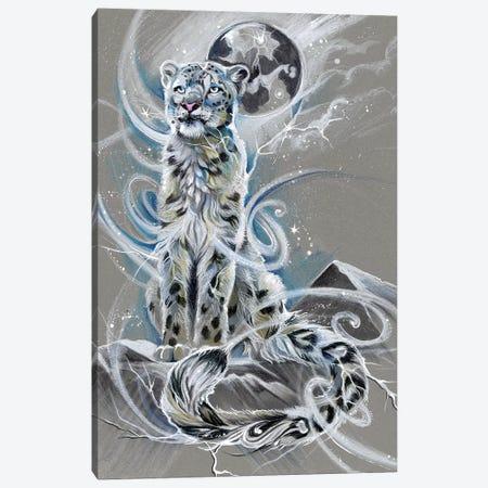 Snow Leopard Canvas Print #KLI134} by Katy Lipscomb Canvas Art