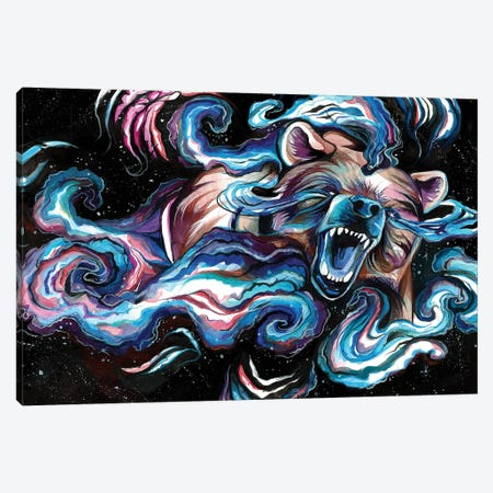 Space Bear Canvas Print #KLI136} by Katy Lipscomb Canvas Artwork