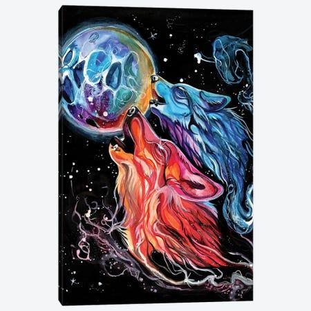 Space Howl Canvas Print #KLI137} by Katy Lipscomb Canvas Art