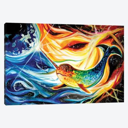 Space Narwhal Canvas Print #KLI138} by Katy Lipscomb Art Print