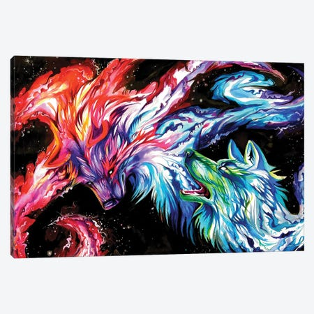 Space Wolves Canvas Print #KLI139} by Katy Lipscomb Canvas Print