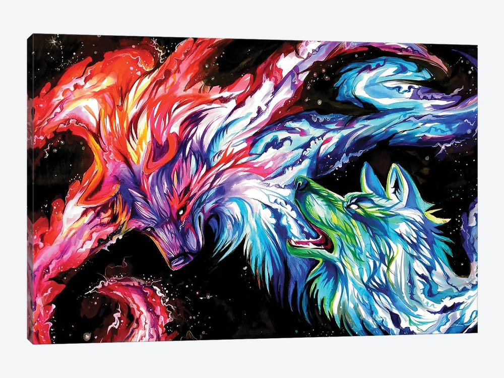 Space Wolves by Katy Lipscomb 1-piece Canvas Art