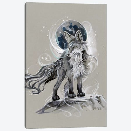 Spirit Fox Canvas Print #KLI140} by Katy Lipscomb Canvas Wall Art