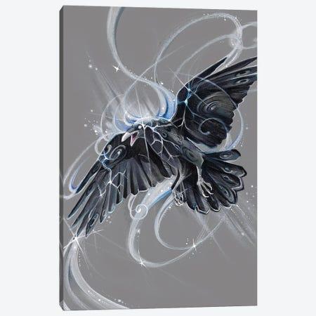 Spirit Raven Canvas Print #KLI141} by Katy Lipscomb Canvas Art
