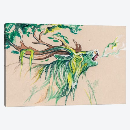 Stag Forest Spirit Canvas Print #KLI144} by Katy Lipscomb Art Print