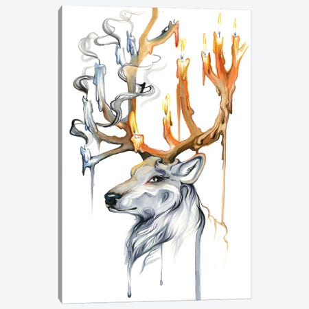 Stag Spirit Canvas Print #KLI145} by Katy Lipscomb Canvas Art Print