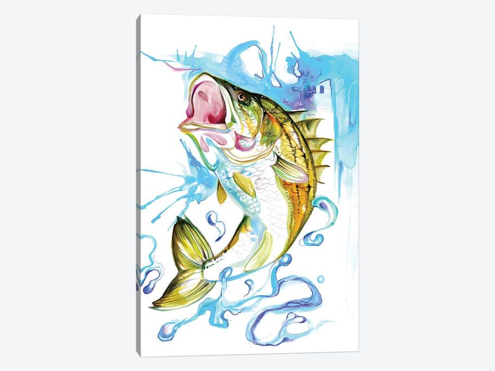 Striped Bass by Katy Lipscomb 1-piece Canvas Wall Art