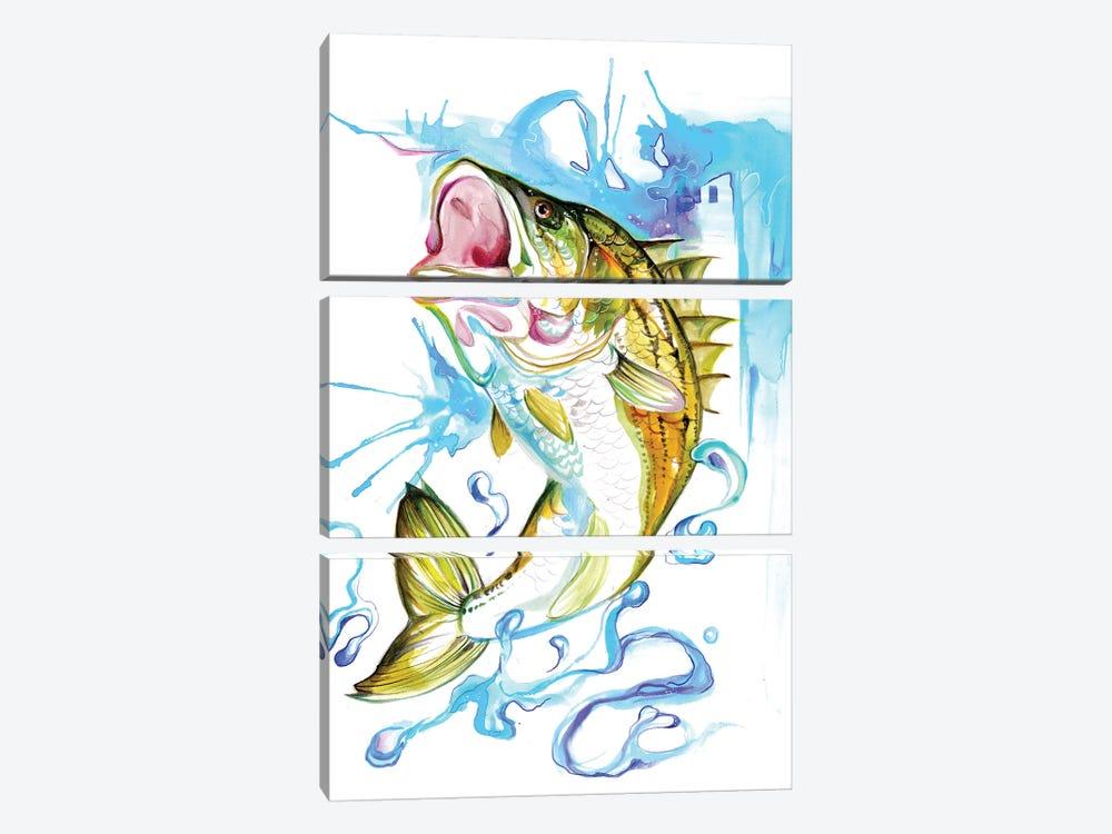 Striped Bass by Katy Lipscomb 3-piece Canvas Artwork