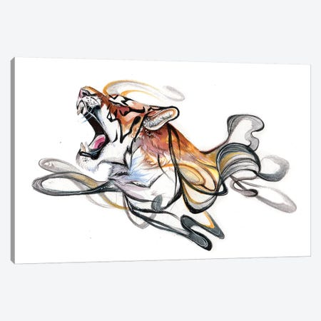 Tiger Canvas Print #KLI148} by Katy Lipscomb Canvas Wall Art