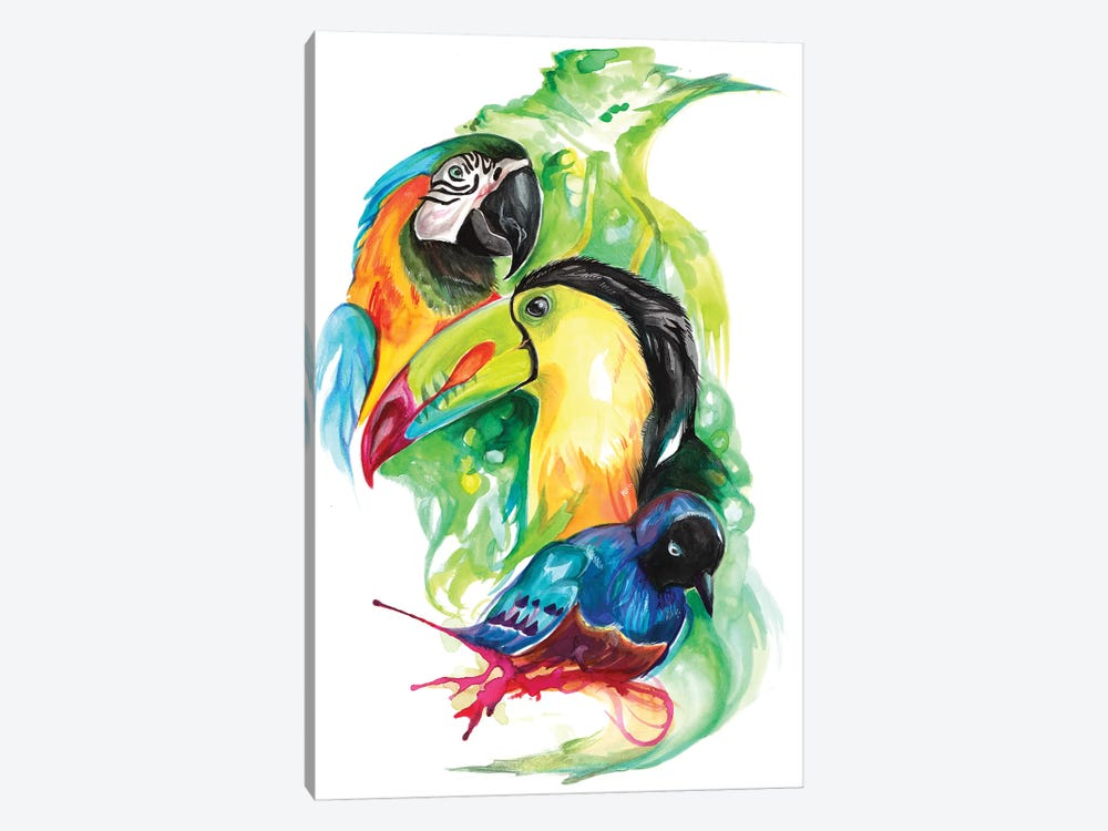Tropical Birds by Katy Lipscomb 1-piece Canvas Print