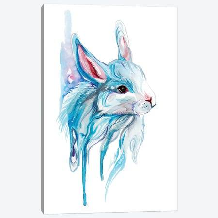 Winter Bunny Canvas Print #KLI153} by Katy Lipscomb Canvas Print