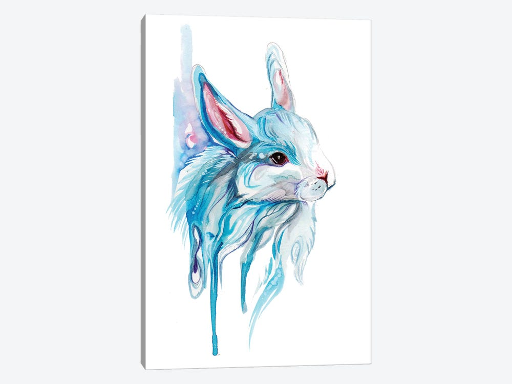 Winter Bunny by Katy Lipscomb 1-piece Canvas Artwork