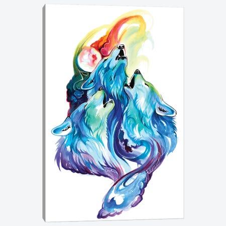 Wolf Trio Canvas Print #KLI156} by Katy Lipscomb Canvas Wall Art
