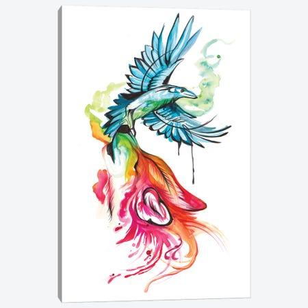 Wolf-and-Raven Canvas Print #KLI157} by Katy Lipscomb Canvas Wall Art