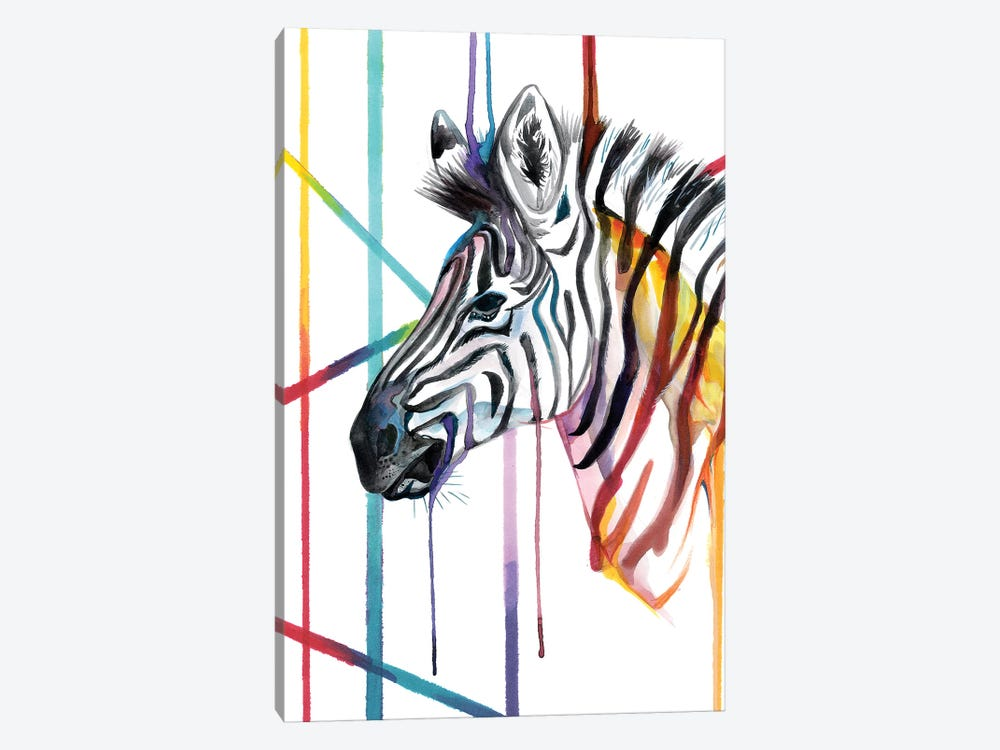 Zebra by Katy Lipscomb 1-piece Art Print
