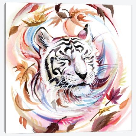 White Tiger Canvas Print #KLI159} by Katy Lipscomb Canvas Print