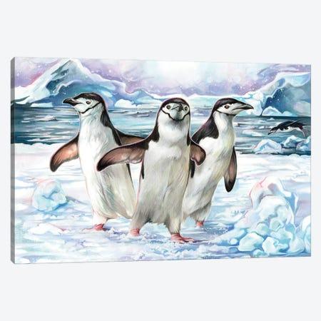 Penguins Canvas Print #KLI164} by Katy Lipscomb Art Print