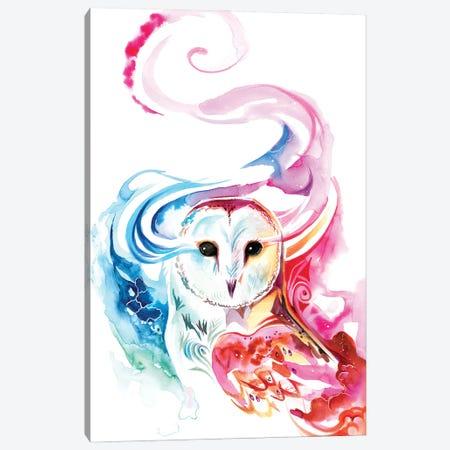 Rainbow Barn Owl Canvas Print #KLI165} by Katy Lipscomb Art Print
