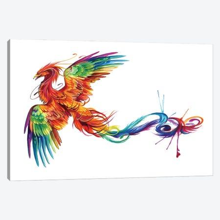 Rainbow Phoenix Flight Canvas Print #KLI167} by Katy Lipscomb Art Print