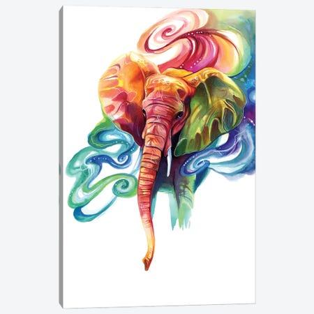 Rainbow Elephant Canvas Print #KLI172} by Katy Lipscomb Art Print