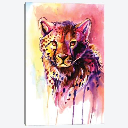 Cheetah Canvas Print #KLI17} by Katy Lipscomb Canvas Art Print