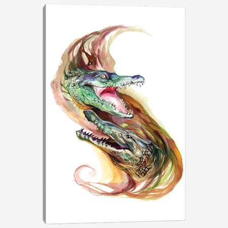 Crocodiles Canvas Print #KLI23} by Katy Lipscomb Canvas Print