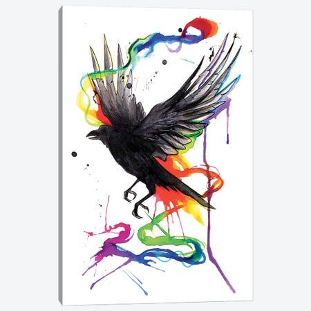 Crow Canvas Print #KLI24} by Katy Lipscomb Canvas Art