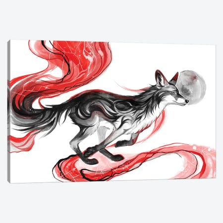 Dark Fox Canvas Print #KLI25} by Katy Lipscomb Canvas Artwork