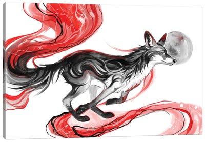 Dark Fox Canvas Art Print