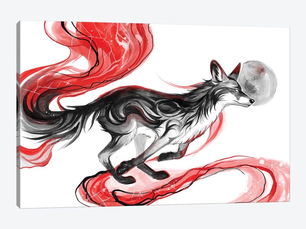 Dark Fox by Katy Lipscomb 1-piece Canvas Artwork