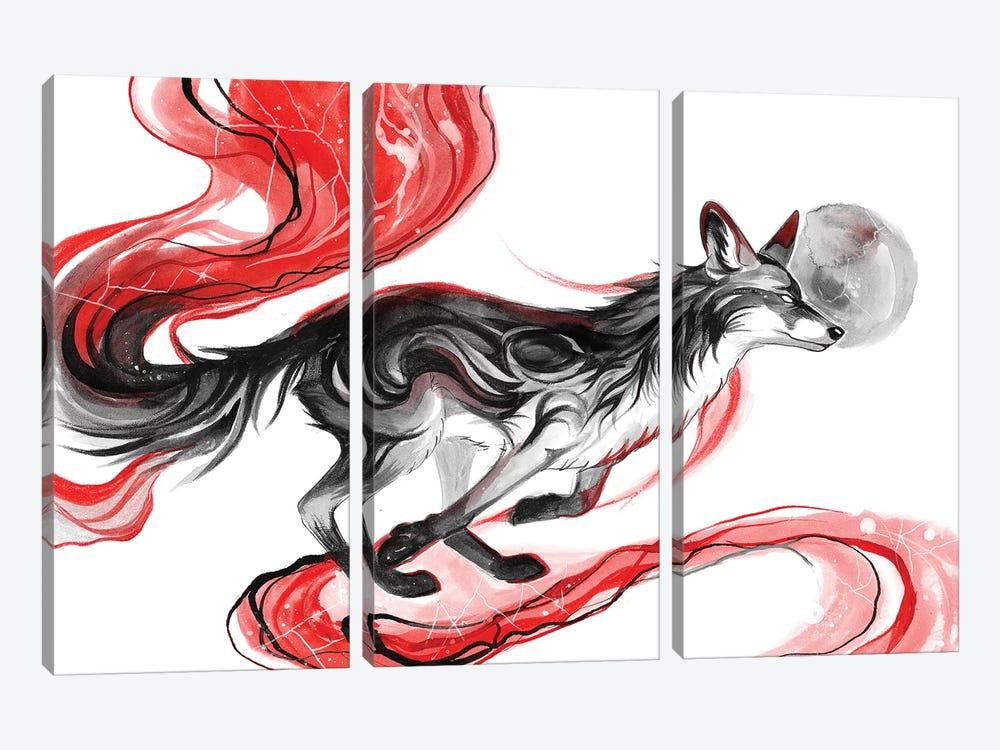 Dark Fox by Katy Lipscomb 3-piece Canvas Artwork