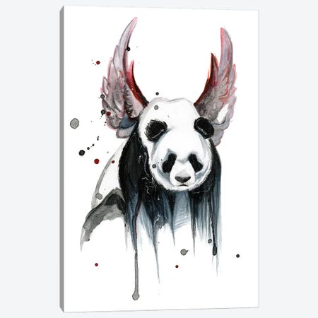 Disappearing Panda I Canvas Print #KLI26} by Katy Lipscomb Canvas Art
