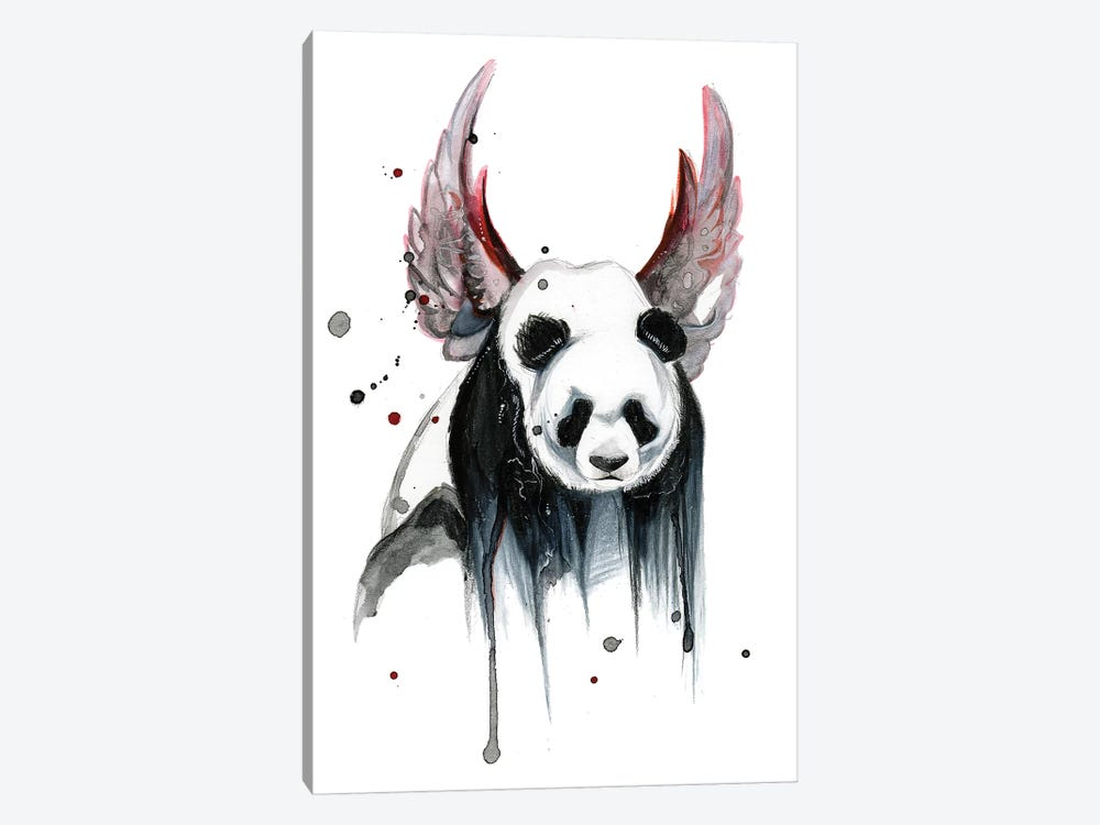 Disappearing Panda I by Katy Lipscomb 1-piece Art Print