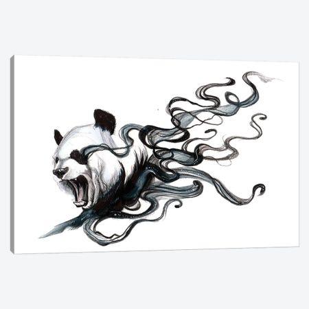 Disappearing Panda II Canvas Print #KLI27} by Katy Lipscomb Canvas Wall Art