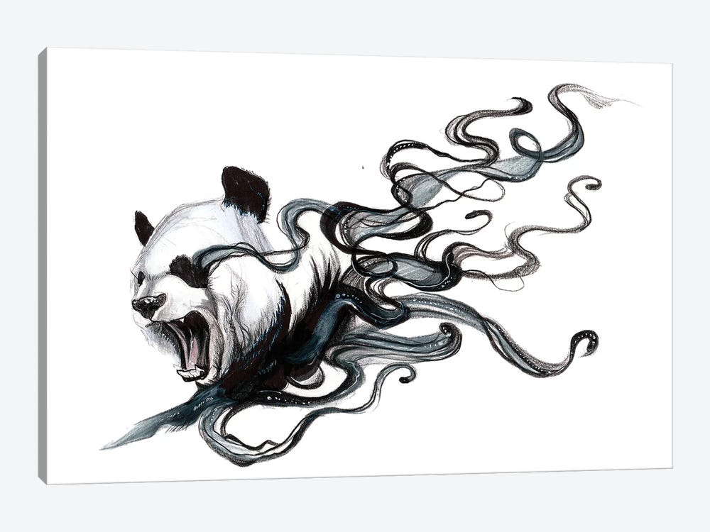 Disappearing Panda II by Katy Lipscomb 1-piece Canvas Art