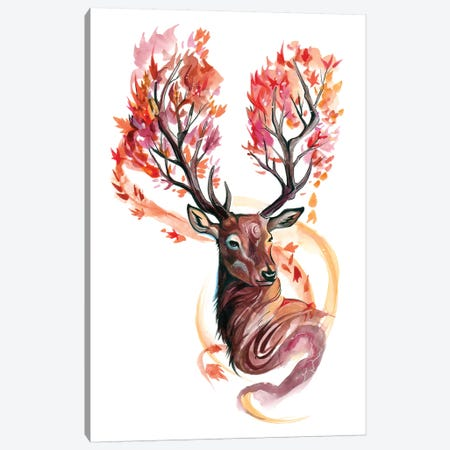 Autumn Stag Canvas Print #KLI2} by Katy Lipscomb Canvas Print