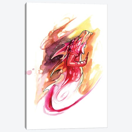 Dragon Head Canvas Print #KLI30} by Katy Lipscomb Canvas Art