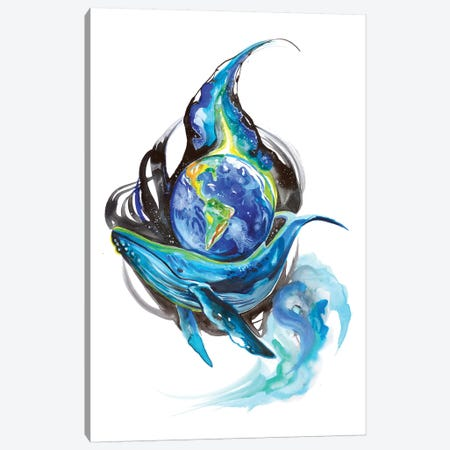 Earth Day Canvas Print #KLI37} by Katy Lipscomb Canvas Art Print