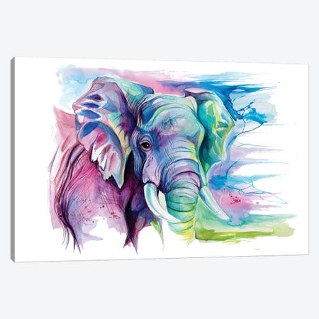 Elephant II Canvas Print #KLI38} by Katy Lipscomb Canvas Art