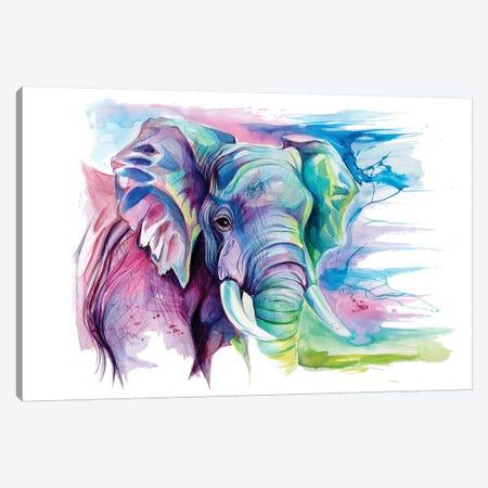 Elephant II Canvas Print #KLI38} by Katy Lipscomb Canvas Art